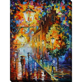 Leonid Afremov 'Lights In The Night' Giclee Print Canvas Wall Art