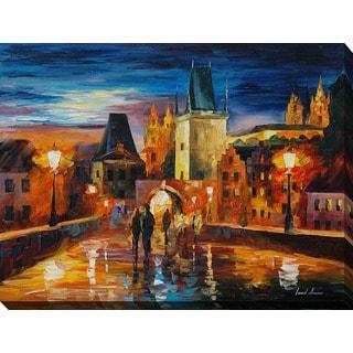 Leonid Afremov 'Night In Prague' Giclee Print Canvas Wall Art