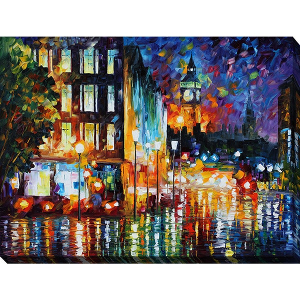 Leonid Afremov 'Londons Lights' Giclee Print Canvas Wall Art
