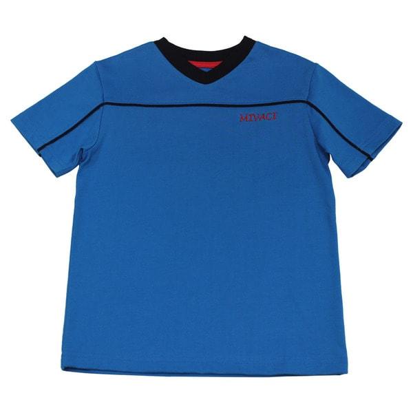 Boy's Mivaci Blue Short Sleeve T-Shirt