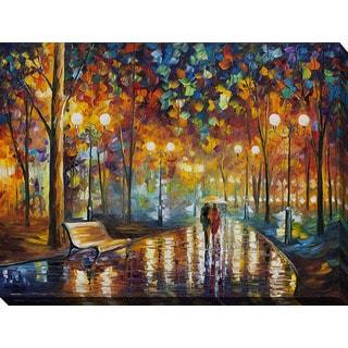 Leonid Afremov 'Rains Rustel' Giclee Print Canvas Wall Art