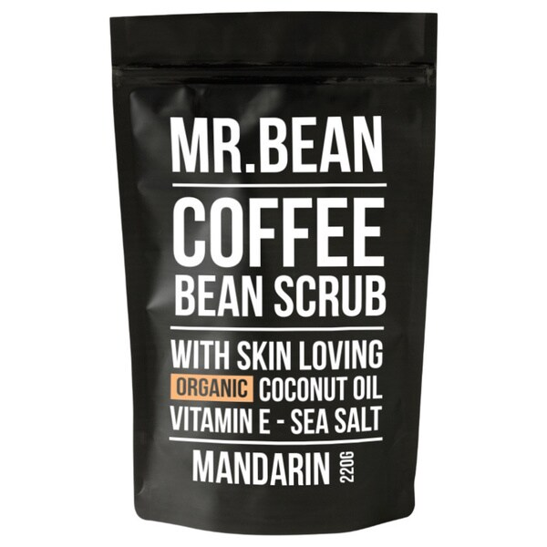 Mr. Bean Coffee Bean Manderine Organic Coconut Oil Scrub