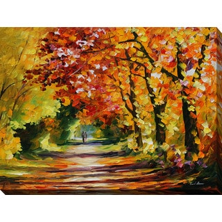 Leonid Afremov 'Sunny Path' Giclee Print Canvas Wall Art