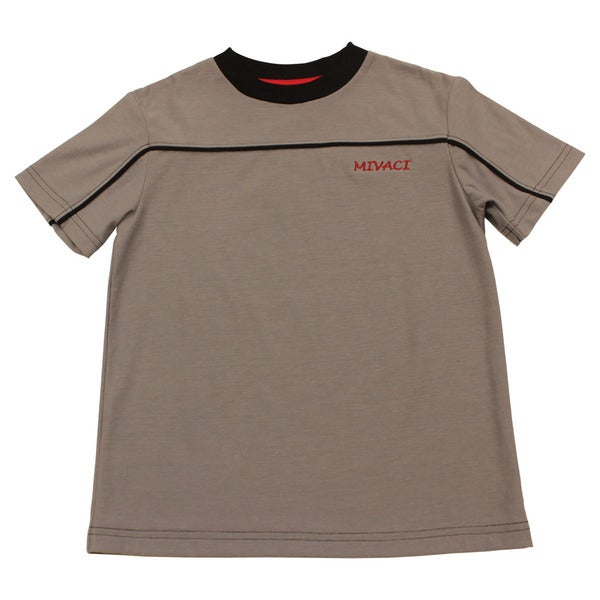 Boy's Mivaci Grey Short Sleeve T-Shirt