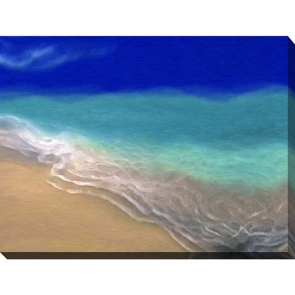 Mark Lawrence 'Beach Scene' Giclee Print Canvas Wall Art