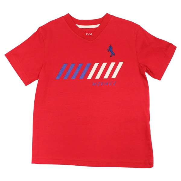 Boy's Mivaci Red Short Sleeve T-Shirt