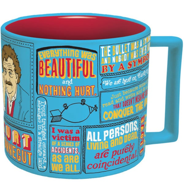 14-ounce Blue Kurt Vonnegut Coffee Mug