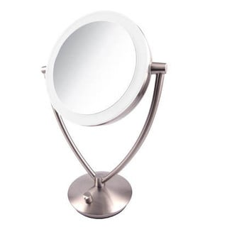Ovente 7.5-inch Dimmable LED Lighted Tabletop Vanity Mirror