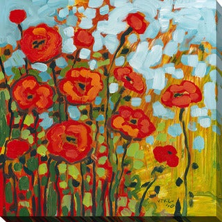 Jennifer Lommers 'Red Poppies I' Giclee Print Canvas Wall Art