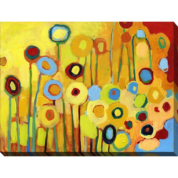 Jennifer Lommers 'Growing In Yellow No5' Giclee Print Canvas Wall Art