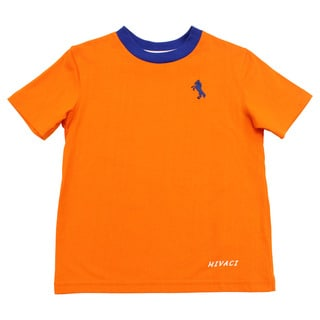 Boy's Mivaci Orange Short Sleeve T-Shirt