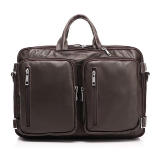 Vicenzo Flex Convertible 15-inch Laptop Messenger Briefcase/Backpack