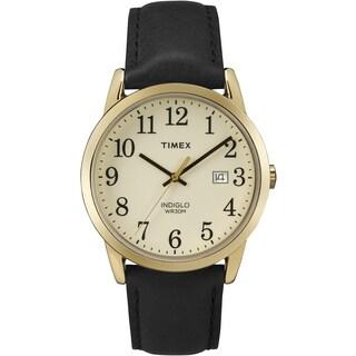 Timex Men's TW2P757009J Easy Reader Black Leather Watch