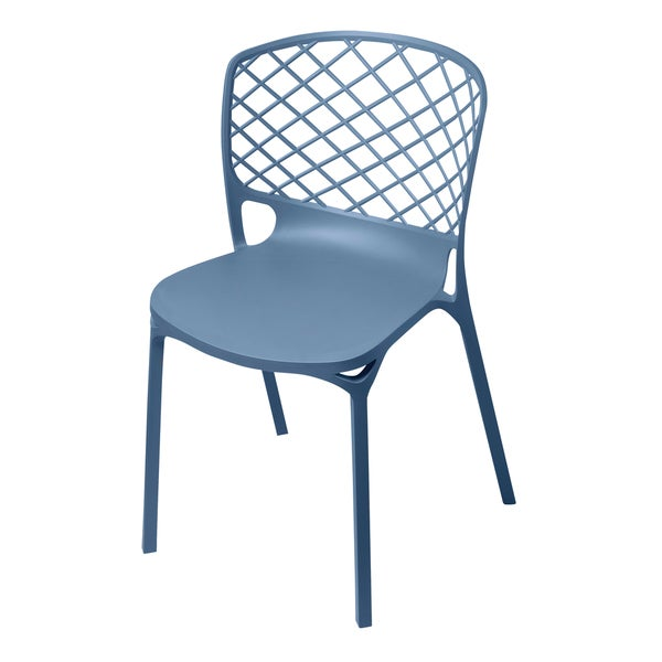 Kristoff Slate Stackable Chairs (Set of 2)