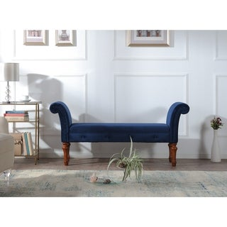 Jennifer Taylor Home Elise Cream Roll Arm Bench