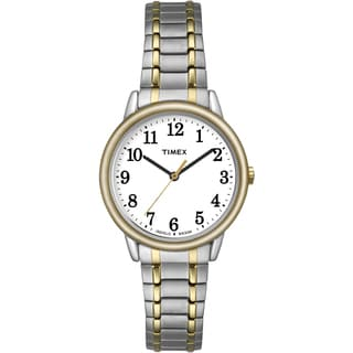 Timex Women's TW2P787009J Easy Reader Two-Tone Stainless Steel Expansion Band Watch