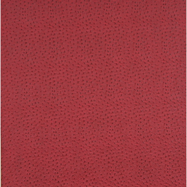 G235 Cherry Red Textured Faux Ostrich Vinyl Upholstery (By The Yard)