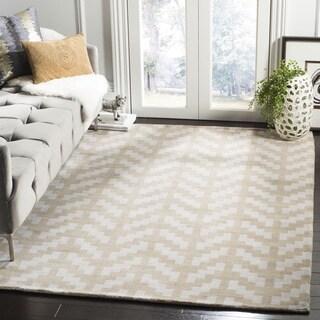 Safavieh Handmade Cambridge Grey/ Taupe Wool Rug (6' Square)