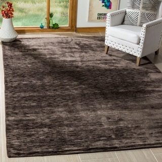 Safavieh Hand-woven Mirage Charcoal Banana Silk Rug (9' x 12')