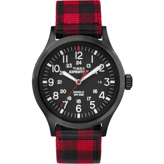 Timex Expedition Scout TW4B020009J Plaid Nylon Watch