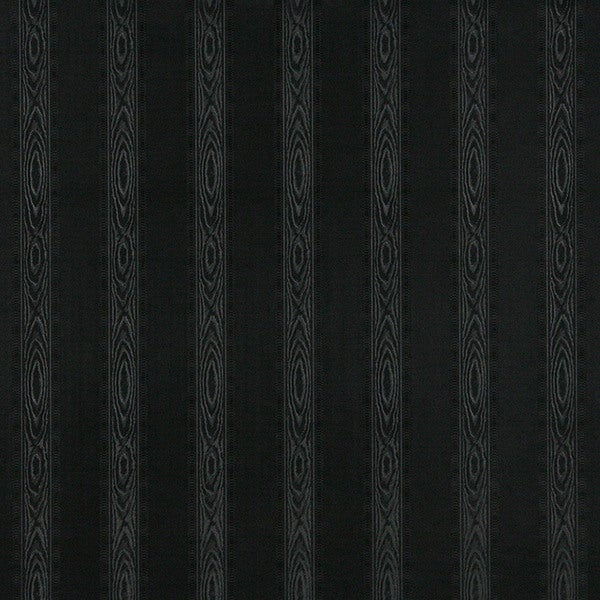 G347 Black Metallic Striped Wood Look Faux Leather Upholstery (By The Yard)