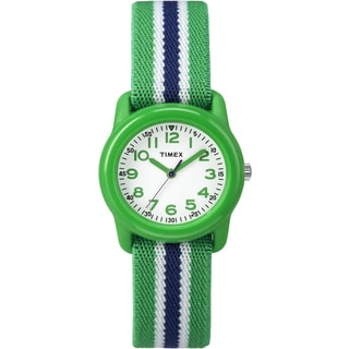 Timex Kids TW7C060009J Green Stripe Analog Watch