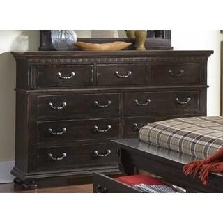 La Cantera Drawer Distressed Espresso Finish Dresser