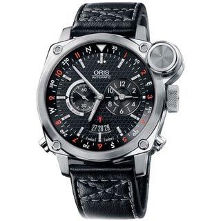 Oris Men's 69076154154LS 'BC4' Automatic Chronograph Black Leather Watch