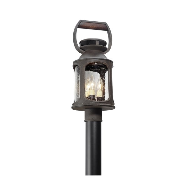 Troy Lighting Old Trail 3-light Post