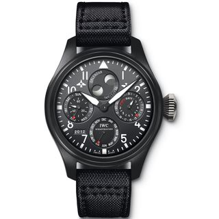 IWC Men's IW502902 'Big Pilot' Automatic Chronograph Black Canvas Watch