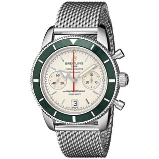 Breitling Men's A2337036-G753 'Superocean Heritage' Automatic Chronograph Silver Stainless steel Watch