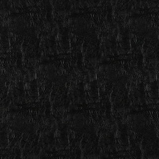 G386 Black Metallic Leather Grain Faux Leather Upholstery (By The Yard)
