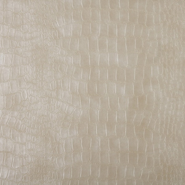 G392 Cream Alligator Look Faux Leather Upholstery (By The Yard)