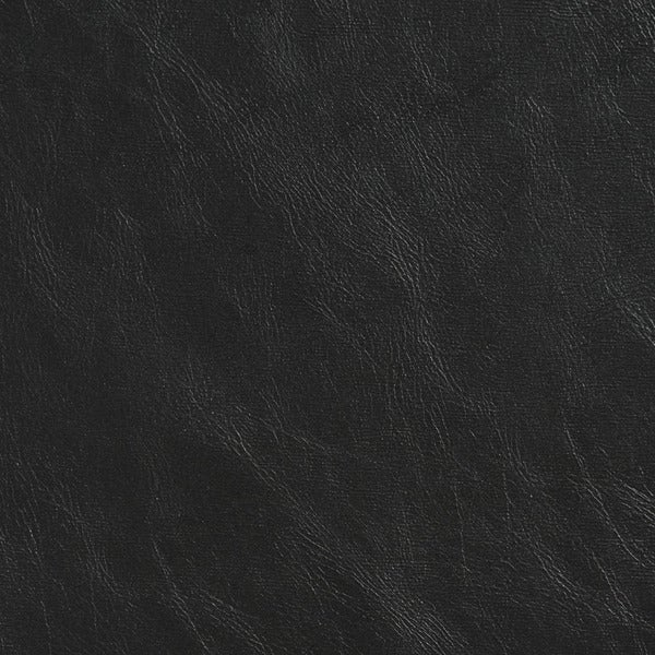 G400 Black Distressed Breathable Leather Look and Feel Upholstery (By The Yard)
