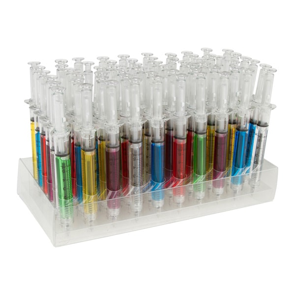 Allures & Illusions Syringe Pen Pack of 60 - Mixed Color Pens
