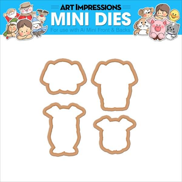 Art Impressions Mini Dies Elephant & Pig