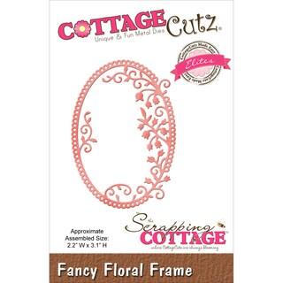CottageCutz Elites Die Fancy Floral Frame, 2.2inX3.1in