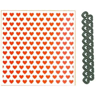 Marianne Design 5inX5in Embossing Folder & Die Hearts