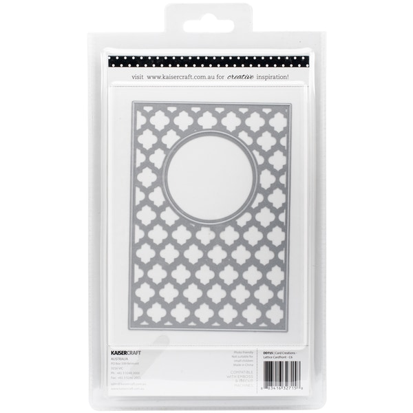 Kaisercraft Card Creations Dies Lattice C6 Card Front 4inX6in