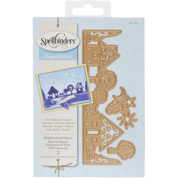 Spellbinders Shapeabilities Dies Neighborhood Glance