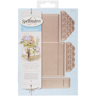 Spellbinders Shapeabilities Dies Scalloped Pop Up Box
