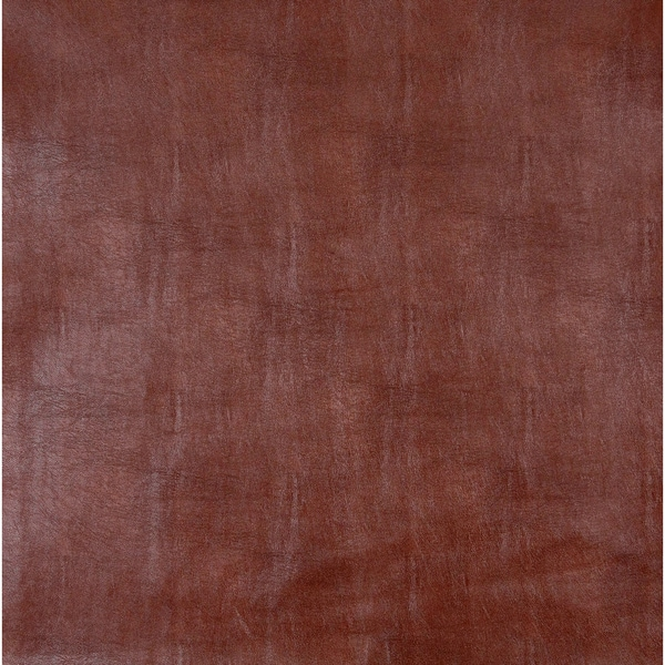 G264 Auburn Red Leather Look Upholstery Polyurethane Faux Leather Upholstery (By The Yard)