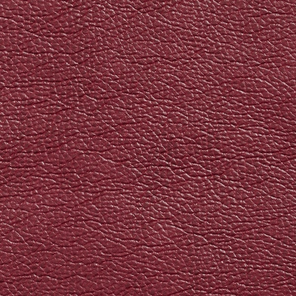 G435 Cranberry Red Breathable Leather Look and Feel Upholstery (By The Yard)