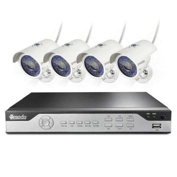 Zmodo 8CH 960H DVR 4x600TVL Home Day/ Night Surveillance Security Camera System