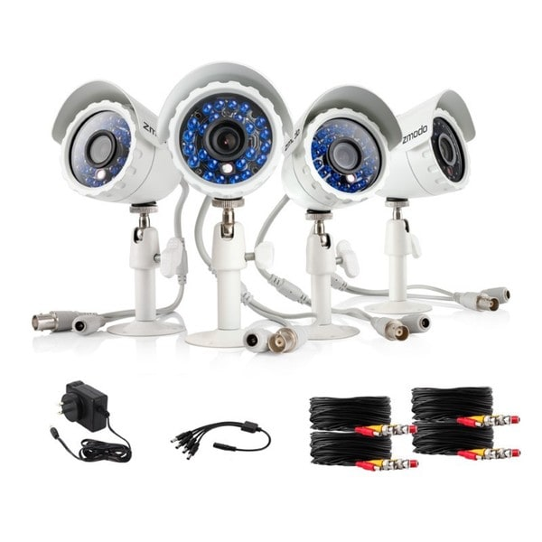 Zmodo 600TVL High Resolution Day/ Night Weatherproof Security Camera Kit