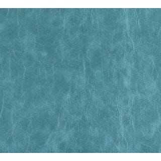G628 Teal Distressed Leather Upholstery Recycled Bonded Leather (By The Yard)