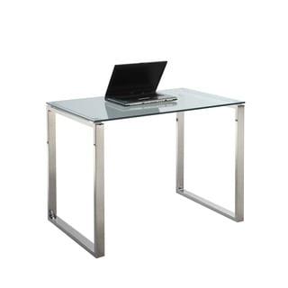 Somette Gloss White Small Computer Desk