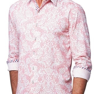 Giorgio Men's Pink Panther Button Front Sport Slim Fit Shirt