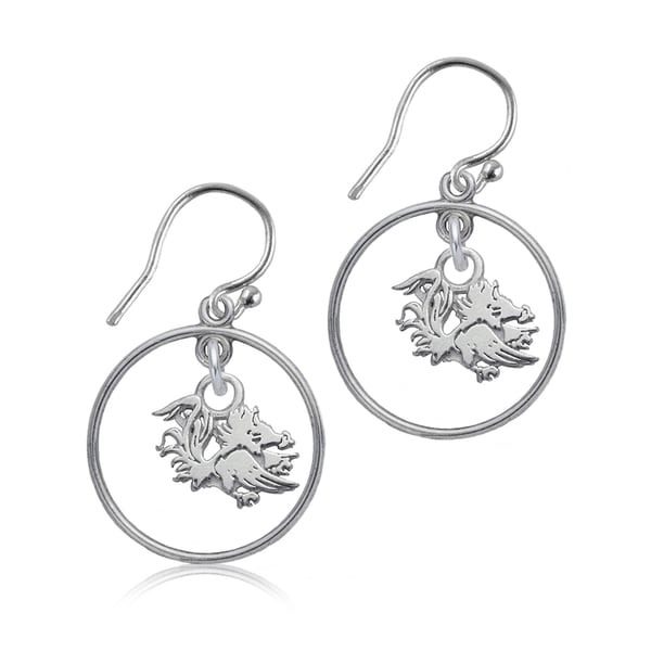 South Carolina Sterling Silver Open Drop Earrings