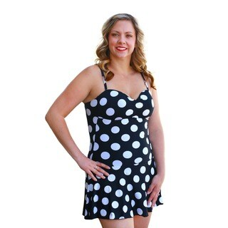 CaCelin Women's Retro Polka Dot Swimdress